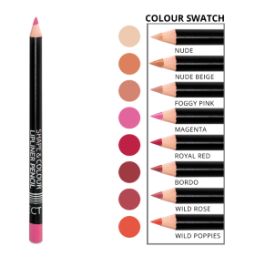 Карандаш для губ Shape & Colour Lipliner Pencil long lasting AFFECT 1,2 гр.